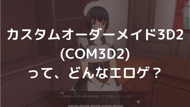 カスタムオーダーメイド3D2 とは 購入